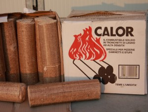 Tronchetti di legno pressato kg