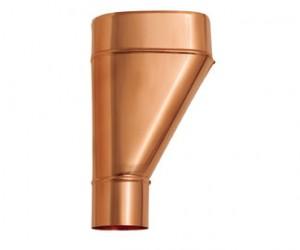 Tubi grondaie pluviali e accessori in rame ferramenta for Tipi di raccordi per tubi di rame